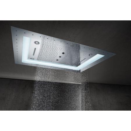 Grohe Rainshower F-Series Deszczownica sufitowa z 6 rodzajami strumieni i oświetleniem 101,6x76,2x15,5 cm, chrom 26373001