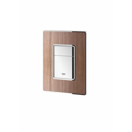 Grohe Skate Cosmopolitan Przycisk spłukujący do WC, chrom/orzech 38849HP0