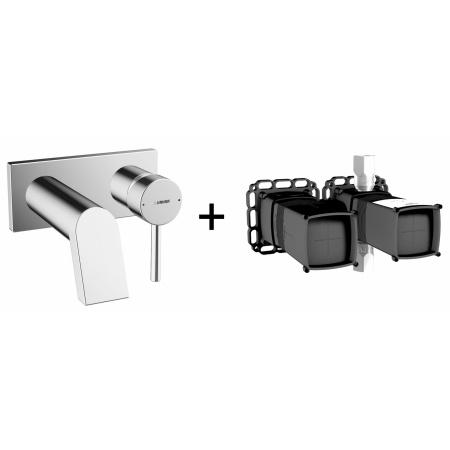 Hansa Stela Zestaw Jednouchwytowa bateria umywalkowa podtynkowa z korpusem podtynkowym chrom 44902103+44000000