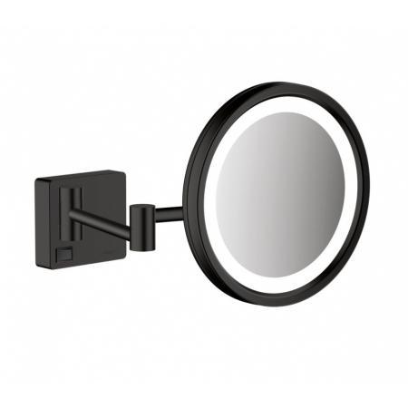 Hansgrohe AddStoris Lusterko kosmetyczne z oświetleniem LED czarny mat 41790670