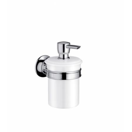 Axor Montreux Pojemnik na mydło w płynie porcelanowy, nikiel szczotkowany 42019820