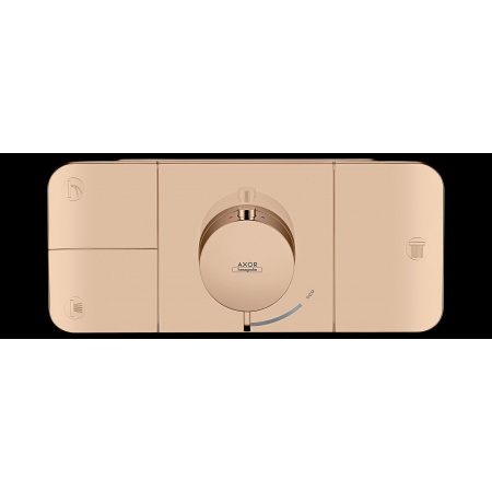 Hansgrohe Axor One Bateria wannowo-prysznicowa podtynkowa termostatyczna czerwone złoto polerowane 45713300