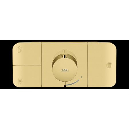 Hansgrohe Axor One Bateria wannowo-prysznicowa podtynkowa termostatyczna złoty polerowany 45713990