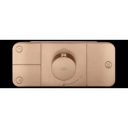 Hansgrohe Axor One Bateria wannowo-prysznicowa podtynkowa termostatyczna czerwone złoto szczotkowane 45713310