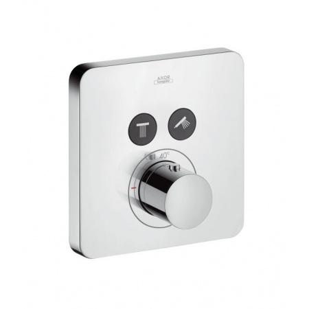 Axor ShowerSelect Soft Cube Jednouchwytowa bateria termostatyczna podtynkowa do dwóch odbiorników, chrom 36707000