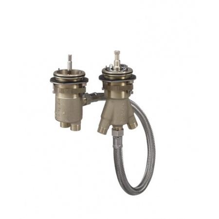 Axor Zestaw podstawowy 2-otworowej baterii termostatycznej na brzeg wanny, 13550180