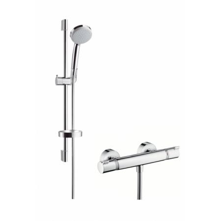 Hansgrohe Croma 100 Vario/Ecostat Comfort Zestaw prysznicowy 65 cm EcoSmart chrom 27032000