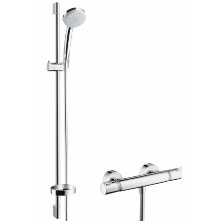 Hansgrohe Croma 100 Vario/Ecostat Comfort Zestaw prysznicowy 90 cm EcoSmart chrom 27033000