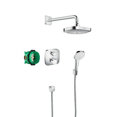 Hansgrohe Croma Select E/ Ecostat E Zestaw prysznicowy podtynkowy, chrom 27294000