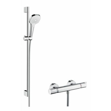Hansgrohe Croma Select E Vario Zestaw prysznicowy 90 cm chrom/biały 27082400