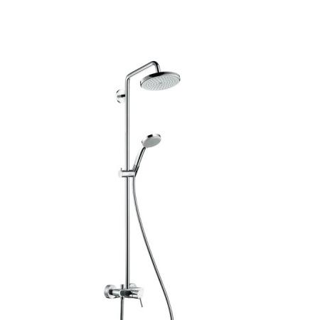 Hansgrohe Croma Zestaw prysznicowy z baterią jednouchwytową i z ramieniem prysznicowym 40 cm, chrom 27222000