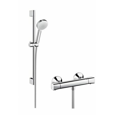 Hansgrohe Crometta 100 Vario/Ecostat Zestaw prysznicowy 65 cm chrom/biały 27030400