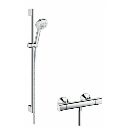 Hansgrohe Crometta 100 Vario/Ecostat Zestaw prysznicowy 90 cm chrom/biały 27031400