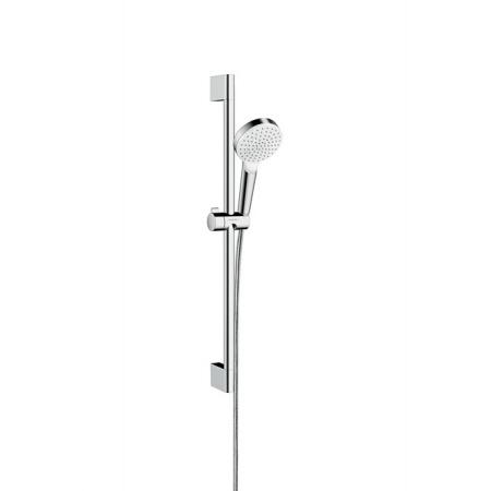 Hansgrohe Crometta Unica Green Zestaw prysznicowy natynkowy biały/chrom 26554400