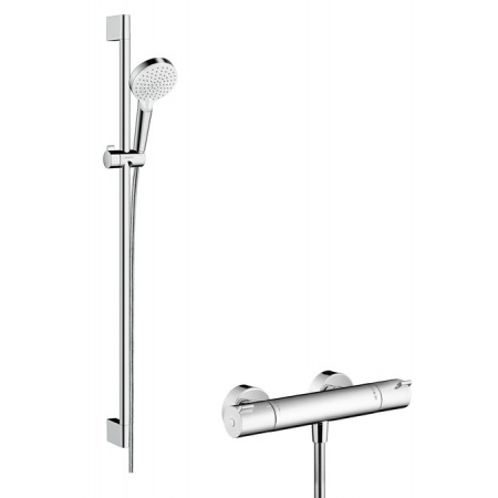 Hansgrohe Crometta Vario Combi 1001 CL Zestaw prysznicowy 90 cm, biały/chrom 27813400