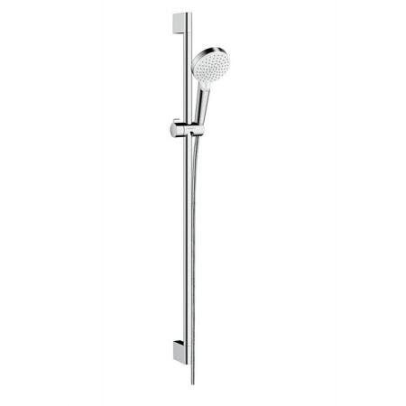 Hansgrohe Crometta Vario Unica EcoSmart Zestaw prysznicowy natynkowy biały/chrom 26538400