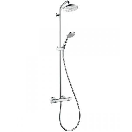 Hansgrohe EcoSmart Croma 220 Zestaw prysznicowy z termostatem i deszczownicą, chrom 27188000