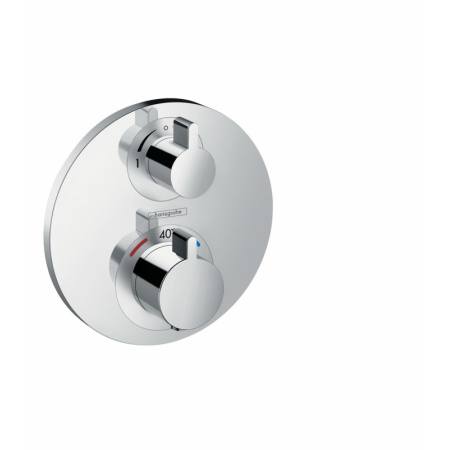 Hansgrohe Ecostat S Dwuuchwytowa bateria prysznicowa podtynkowa termostatyczna, chrom 15758000