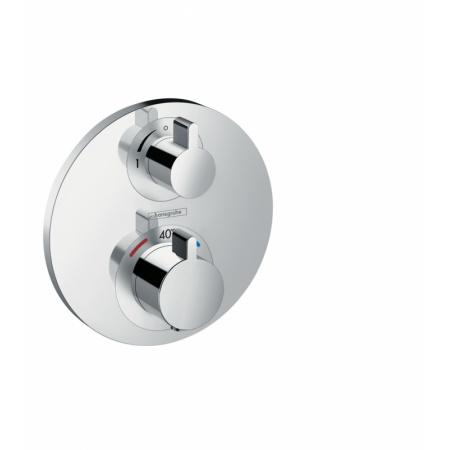 Hansgrohe Ecostat S Dwuuchwytowa bateria prysznicowa podtynkowa termostatyczna, chrom 15757000