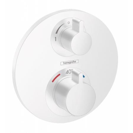 Hansgrohe Ecostat S Bateria wannowo-prysznicowa podtynkowa z termostatem biały mat 15758700