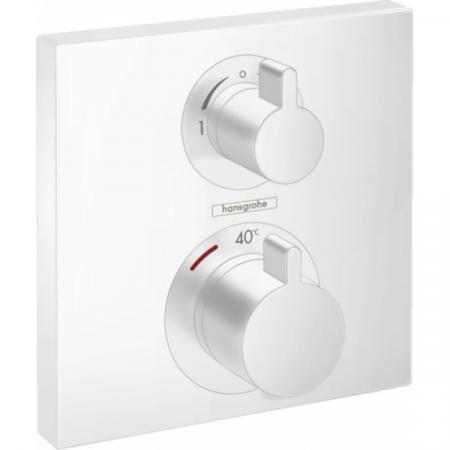 Hansgrohe Ecostat Square Bateria wannowo-prysznicowa podtynkowa z termostatem biały matowy 15714700