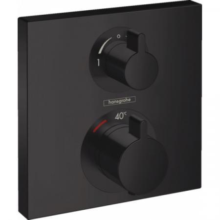 Hansgrohe Ecostat Square Bateria wannowo-prysznicowa podtynkowa z termostatem czarny matowy 15714670