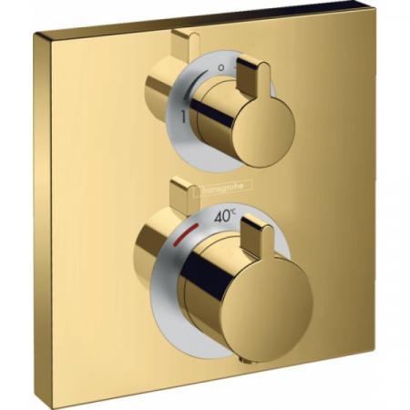 Hansgrohe Ecostat Square Bateria wannowo-prysznicowa podtynkowa z termostatem polerowany złoty optyczny 15714990