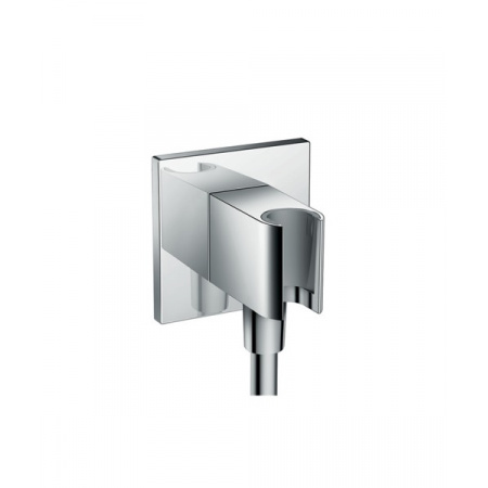 Hansgrohe FixFit Porter Square Uchwyt prysznicowy z przyłączem chrom 26486000