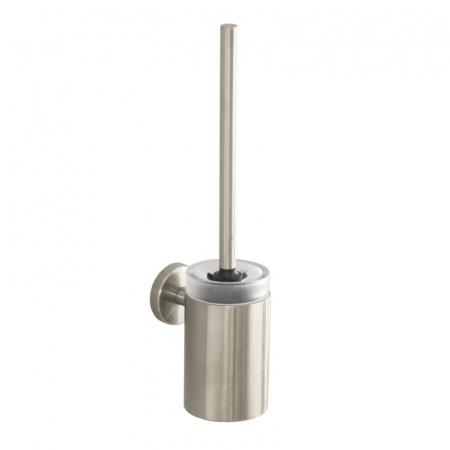 Hansgrohe Akcesoria Szczotka do WC z pojemnikiem 12x39 cm, nikiel szczotkowany 40522820