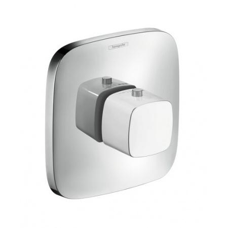 Hansgrohe PuraVida Jednouchwytowa bateria termostatyczna Highflow podtynkowa element zewnętrzny, biała/chrom 15772400