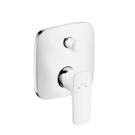 Hansgrohe PuraVida Jednouchwytowa bateria wannowo-prysznicowa podtynkowa, biały/chrom 15445400