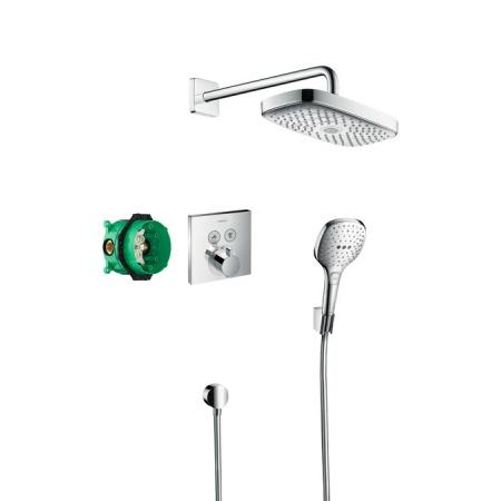Hansgrohe Raindance Select E/ShowerSelect E Zestaw prysznicowy podtynkowy, chrom 27296000