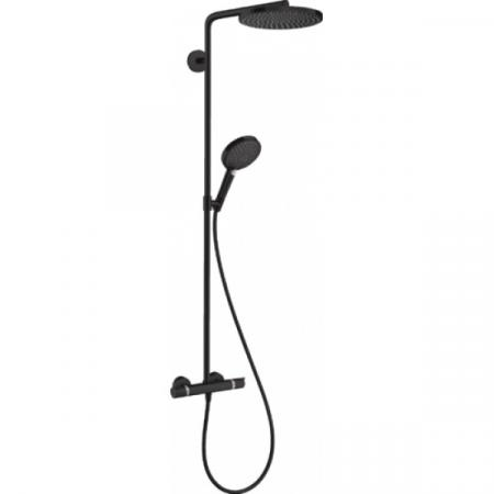 Hansgrohe Raindance Select S 240 P Zestaw prysznicowy natynkowy termostatyczny czarny matowy 27633670