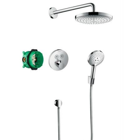 Hansgrohe Raindance Select S Zestaw prysznicowy podtynkowy termostatyczny z deszczownicą, chrom 27297000