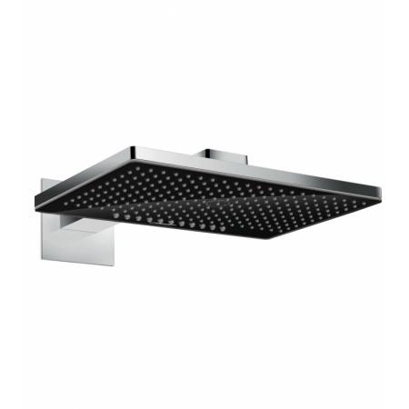 Hansgrohe Rainmaker Select Deszczownica ścienna z ramieniem prysznicowym 46x30x6,2 cm, chrom/czarna 24005600