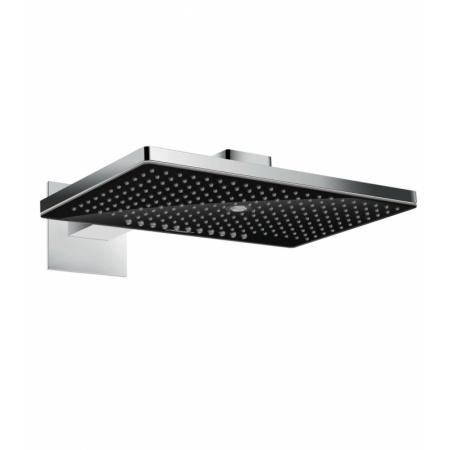 Hansgrohe Rainmaker Select Deszczownica ścienna z ramieniem prysznicowym 46x30x6,2 cm, chrom/czarna 24007600