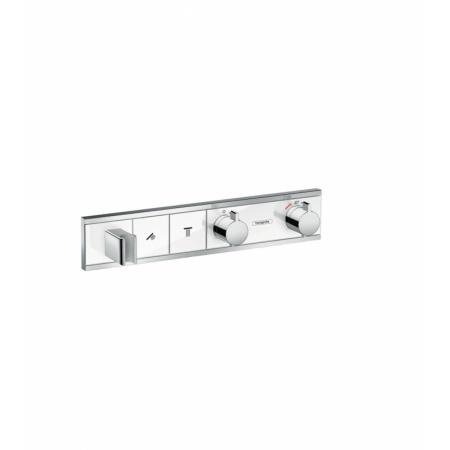 Hansgrohe RainSelect Bateria wannowo-prysznicowa podtynkowa z termostatem, chrom/biała 15355400