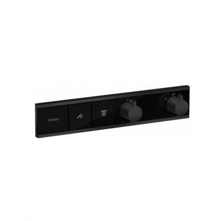 Hansgrohe RainSelect Bateria wannowo-prysznicowa podtynkowa z termostatem, czarny matowy 15380670