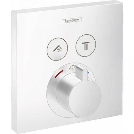 Hansgrohe ShowerSelect Bateria wannowo-prysznicowa podtynkowa z termostatem biały matowy 15763700