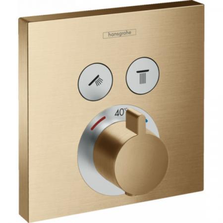 Hansgrohe ShowerSelect Bateria wannowo-prysznicowa podtynkowa z termostatem, brąz szczotkowany 15763140
