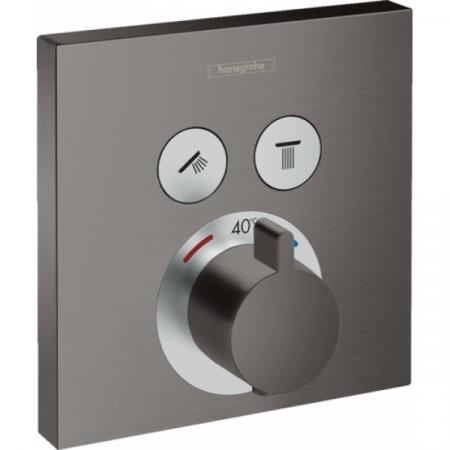 Hansgrohe ShowerSelect Bateria wannowo-prysznicowa podtynkowa z termostatem, czarny chrom szczotkowany 15763340