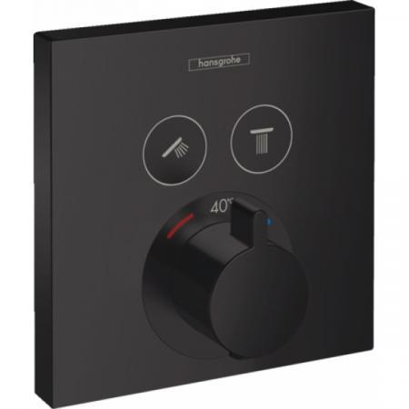 Hansgrohe ShowerSelect Bateria wannowo-prysznicowa podtynkowa z termostatem, czarny matowy 15763670