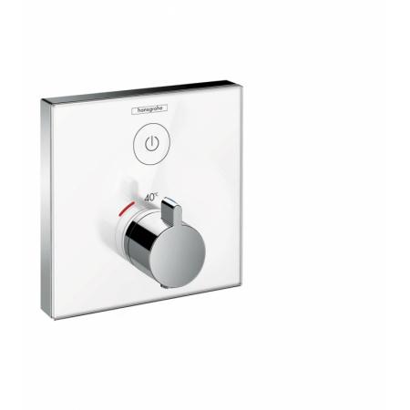 Hansgrohe ShowerSelect Glass Bateria wannowo-prysznicowa podtynkowa z termostatem chrom/biały 15737400