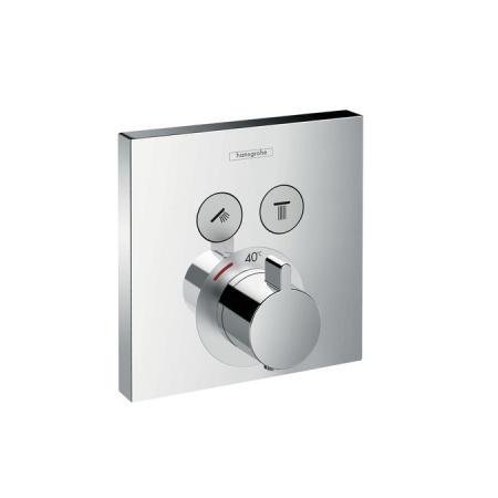 Hansgrohe ShowerSelect Bateria termostatyczna podtynkowa dla 2 odbiorników element zewnętrzny, chrom 15763000