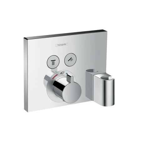 Hansgrohe ShowerSelect Bateria termostatyczna podtynkowa dla 2 odbiorników z Fixit i Porter element zewnętrzny, chrom 15765000