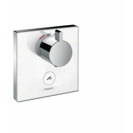 Hansgrohe ShowerSelect Glass Bateria wannowo-prysznicowa podtynkowa z termostatem chrom/biały 15735400