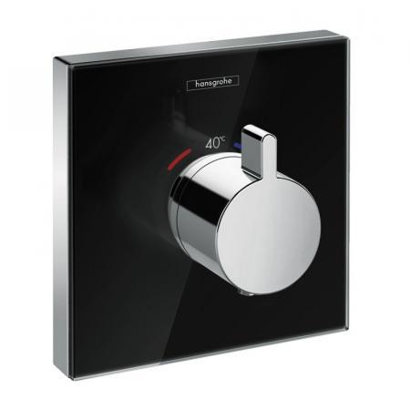 Hansgrohe ShowerSelect Glass Bateria wannowo-prysznicowa podtynkowa termostatyczna czarny/chrom 15734600