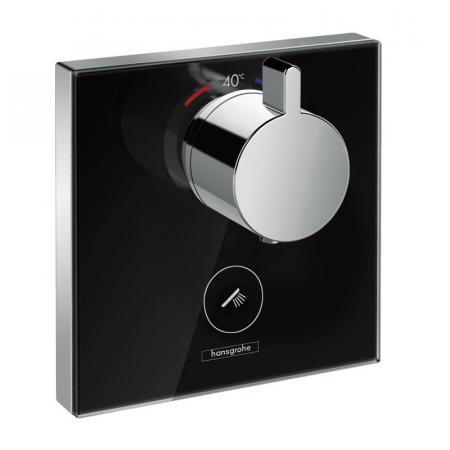 Hansgrohe ShowerSelect Glass Bateria wannowo-prysznicowa podtynkowa termostatyczna czarny/chrom 15735600