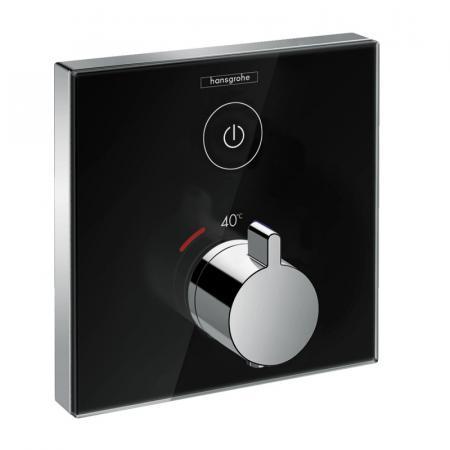 Hansgrohe ShowerSelect Glass Bateria wannowo-prysznicowa podtynkowa termostatyczna czarny/chrom 15737600