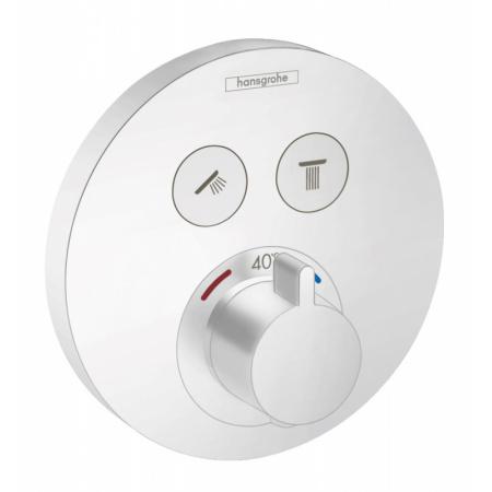 Hansgrohe ShowerSelect S Bateria wannowo-prysznicowa podtynkowa z termostatem biały mat 15743700
